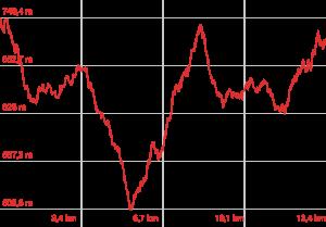 Profilo altimetrico Anello Da Villalba a Monte Rufeno