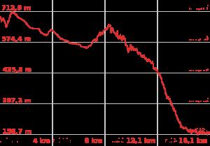 Profilo altimetrico Villalba - Allerona Scalo