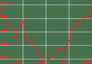 Profilo altimetrico Percorso medio fondo Allerona